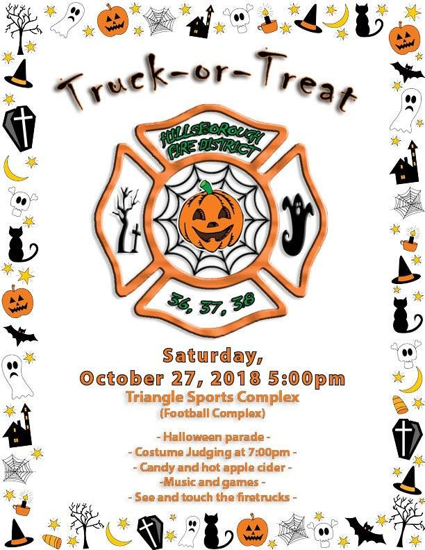 Hillsborough Fire Companies Host Trunk Or Treat Saturday October